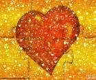 Puzzle rosso del cuore