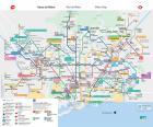 Mappa metropolitana Barcellona