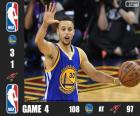 Finale NBA 2016, 4 partita