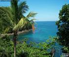 Il mare da un'isola tropicale