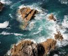 Rompicapo di Rocce nel mare
