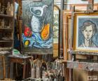 Officina di artista pittore