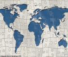 Il puzzle di mappa del mondo