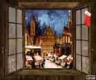 Mercatino di Natale, finestra
