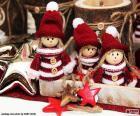 Tre bambole di Natale