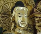 Testa di Buddha d'oro