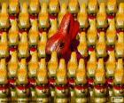 Diversi i coniglietti pasquali al cioccolato avvolto nella carta stagnola
