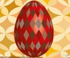 Uovo di Pasqua con rombi