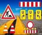 Segni di lavori stradali