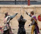 Tre cavalieri di combattimento