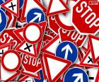 Diversi segnali stradali