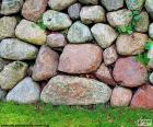 Parete giardino di pietra