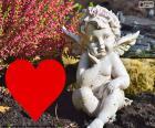 Cupido i cuore rosso