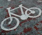 Bici dipinta, segnale