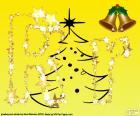 Lettera R con sfondo di Natale