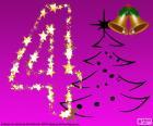 Un numero 4 di Natale
