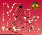 Sfondo di Natale, lettera K