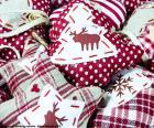 Ornamenti di Natale, tessuto