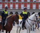 Polizia municipale a cavallo, Madrid