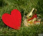 Cuore e coniglietto di Pasqua