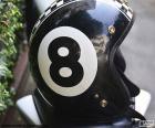 Rompicapo di Numero otto bianco