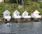 Case sul lago, Norvegia