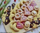 Assortimento di biscotti di Natale