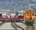 Treni alla stazione