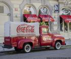 Vecchio camion Coca-Cola
