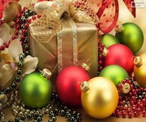 Rompicapo di Regalo di Natale decorato