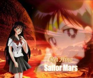 Rompicapo di Rei Hino o Rea Hino si trasforma in Sailor Mars, la guerriera della fiamma e della passione