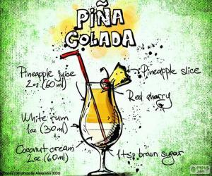 Rompicapo di Ricetta di Piña Colada