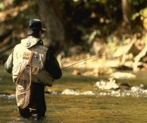 Rompicapo di River pescatore in azione