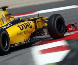 Rompicapo di Robert Kubica - Renault - Barcellona 2010