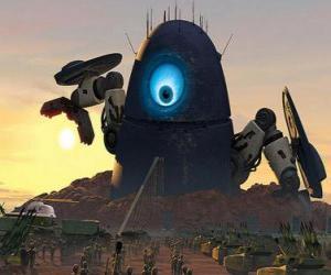 Rompicapo di Robot Probe, il robot alieno