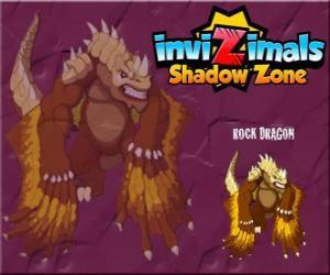 Rompicapo di Rock Dragon. Invizimals Le creature ombra. I draghi di rocchia vivono nei crateri dei vulcani