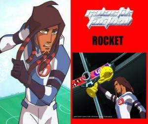 Rompicapo di Rocket è il capitano della squadra di calcio Galactic Snow-Kids con il numero 5