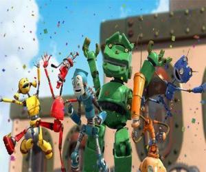 Rompicapo di Rodney's amici in Robot City - I Rusties uidato per Fender