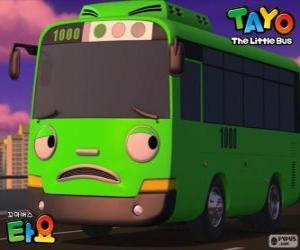 Rompicapo di ROGI un autobus verde divertente e malizioso