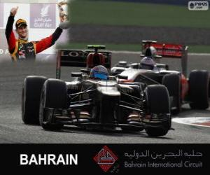 Rompicapo di Romain Grosjean - Lotus - Gran Premio Bahrain 2013, 3 ° classificato
