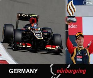 Rompicapo di Romain Grosjean - Lotus - Gran Premio Germania 2013, 3 ° classificato