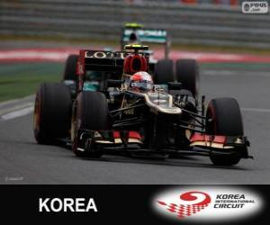Rompicapo di Romain Grosjean - Lotus - Gran Premio di Corea 2013, 3 ° classificato