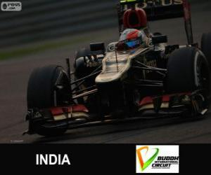 Rompicapo di Romain Grosjean - Lotus - Gran Premio dell'India 2013, 3 ° classificato