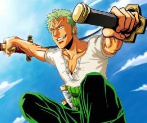 Rompicapo di Roronoa Zoro è uno spadaccino specialista in combattimento con tre spade