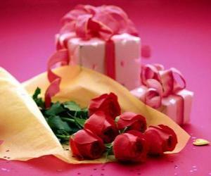 Rompicapo di Rose rosse e un regalo per San Valentino