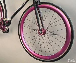 Rompicapo di Ruota anteriore bicicletta
