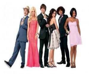 Rompicapo di Ryan Evans (Lucas Grabeel), Sharpay Evans (Ashley Tisdale), Troy Bolton (Zac Efron), Gabriella Montez (Vanessa Hudgens), Chad (Corbin Bleu), Taylor (Monique Coleman) molto elegante