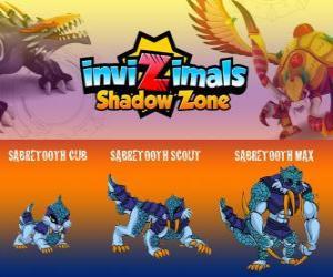 Rompicapo di Sabretooth Cub, Sabretooth Scout, Sabretooth Max. Invizimals Le creature ombra. Il guardiano del parco che sogna di diventare un supereroe