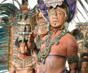Rompicapo di Sacerdote azteco fatto un'offerta agli dei