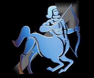 Rompicapo di Sagittario. Il centauro, l'arciere. Nono segno dello zodiaco. Nome latino è Sagittarius